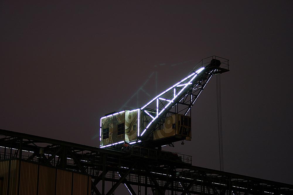 Luminale 2010, Kohlekran in Offenbach am Main II