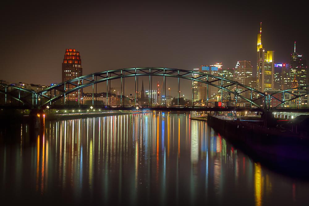 Luminale 2014 - Blick von der Osthafenbrücke
