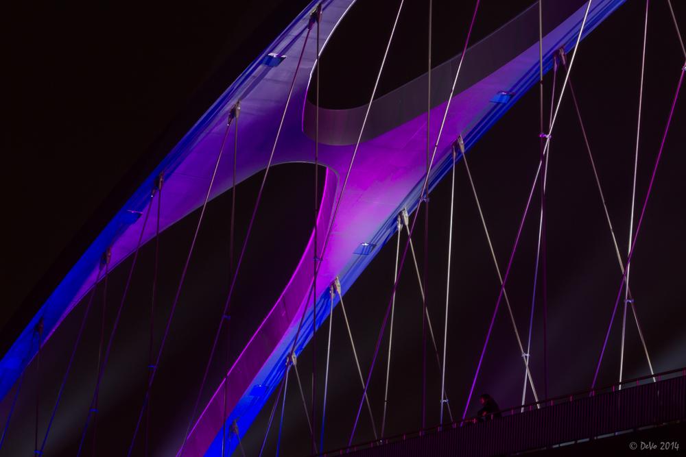 Luminale 2014 - Detail an der Osthafen-Brücke