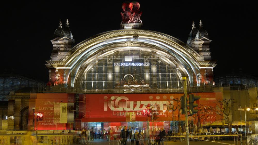 Luminale 2014: Hauptbahnhof Frankfurt