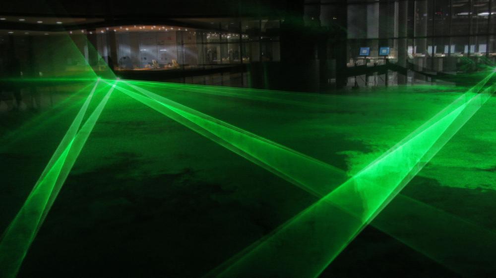 Luminale 2014: Laser-Installation