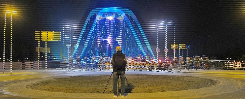 Luminale 2014: Osthafenbrücke 2