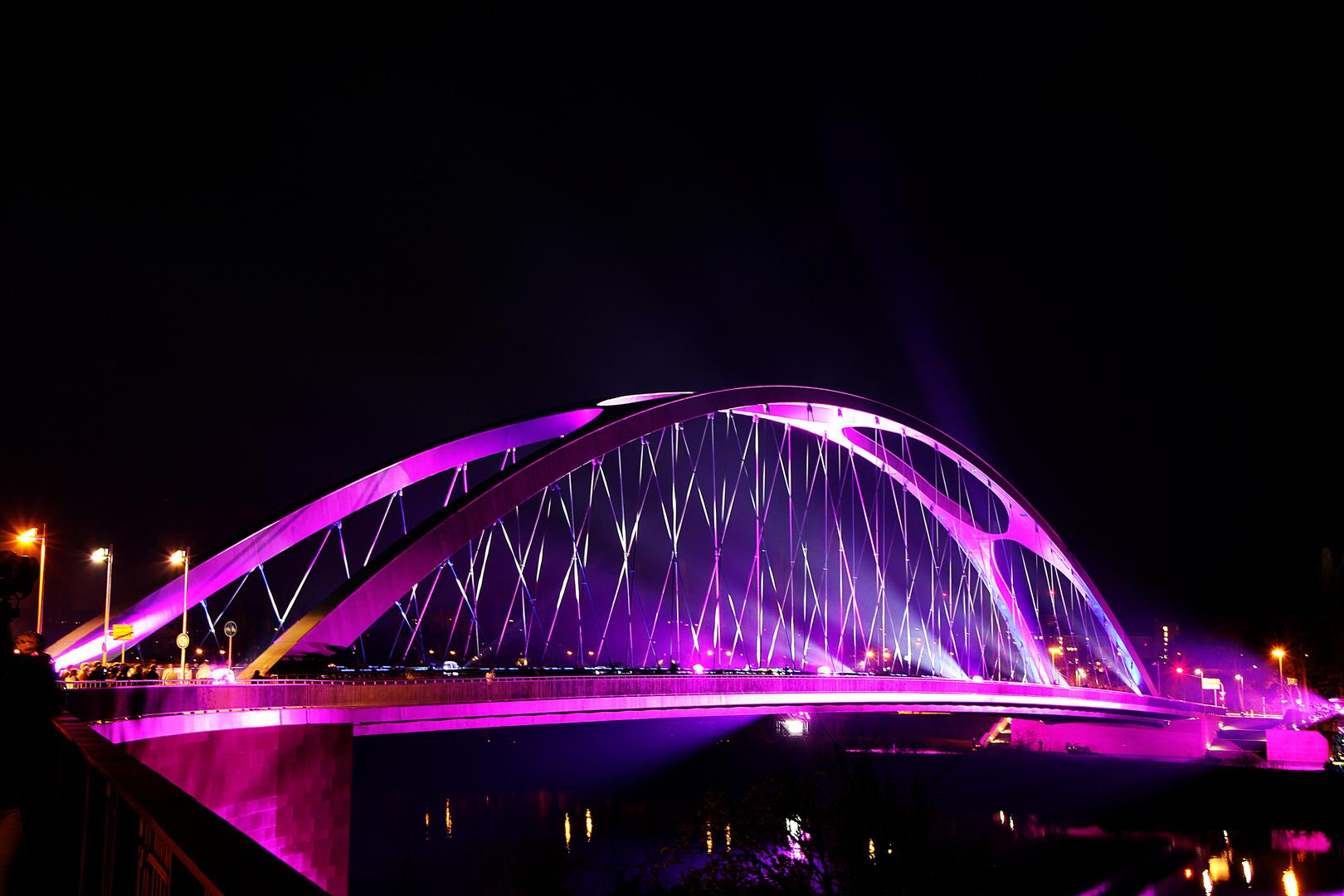 Luminale 2014 Osthafenbrücke