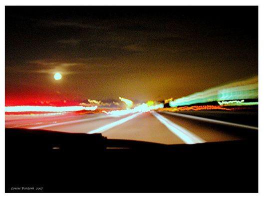 Luna in autostrada