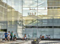 Lunchtime downtown Stuttgart