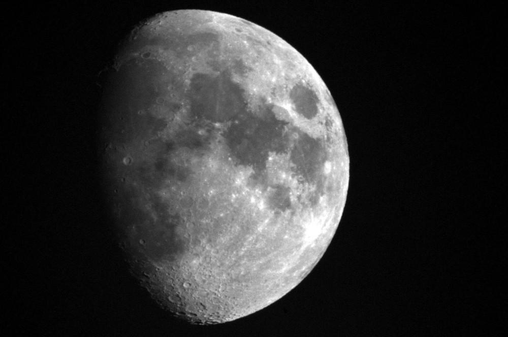 lune au 1000 MTO à miroir +multiplicateur 1.7 D300 à travers double vitrage