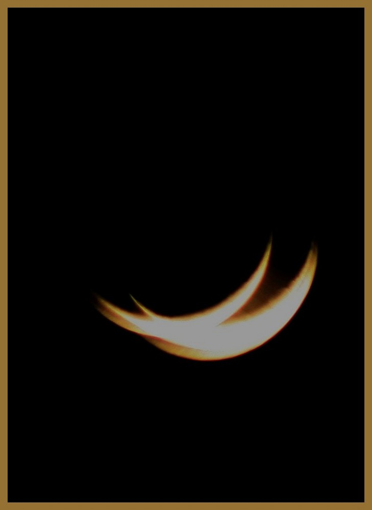 Lune en pause longue