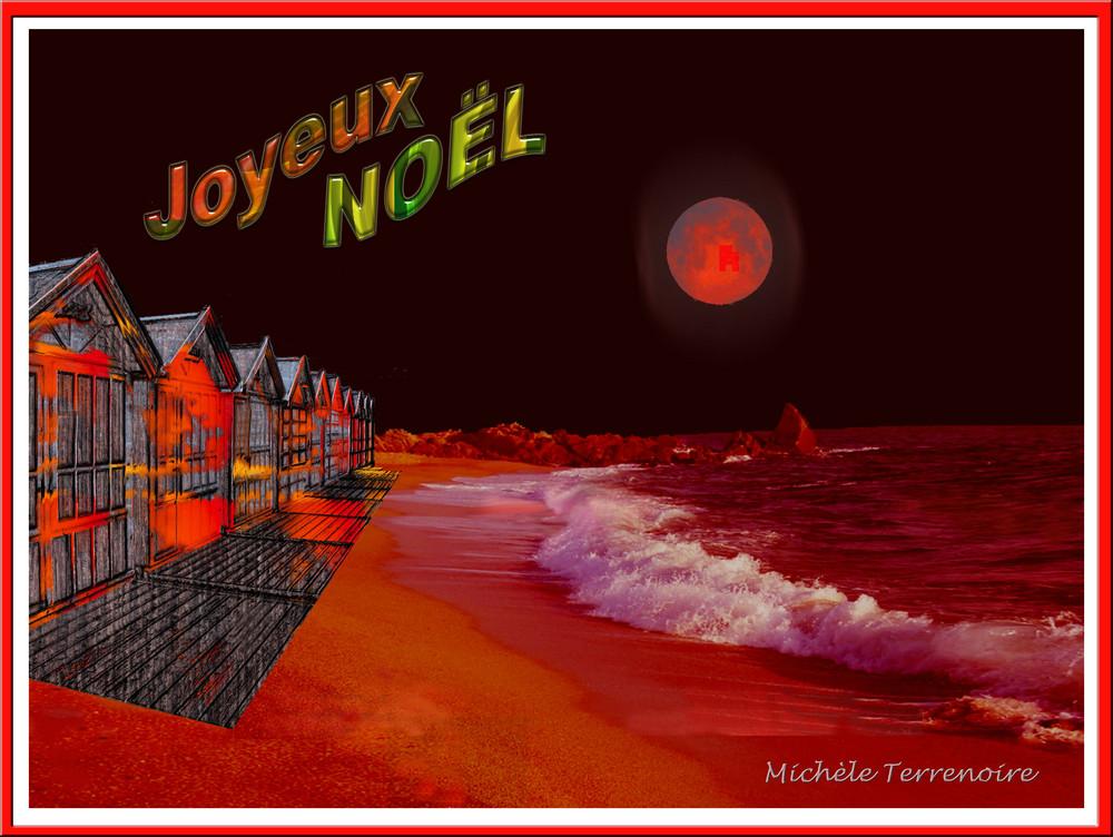Lune Rouge sur la Plage