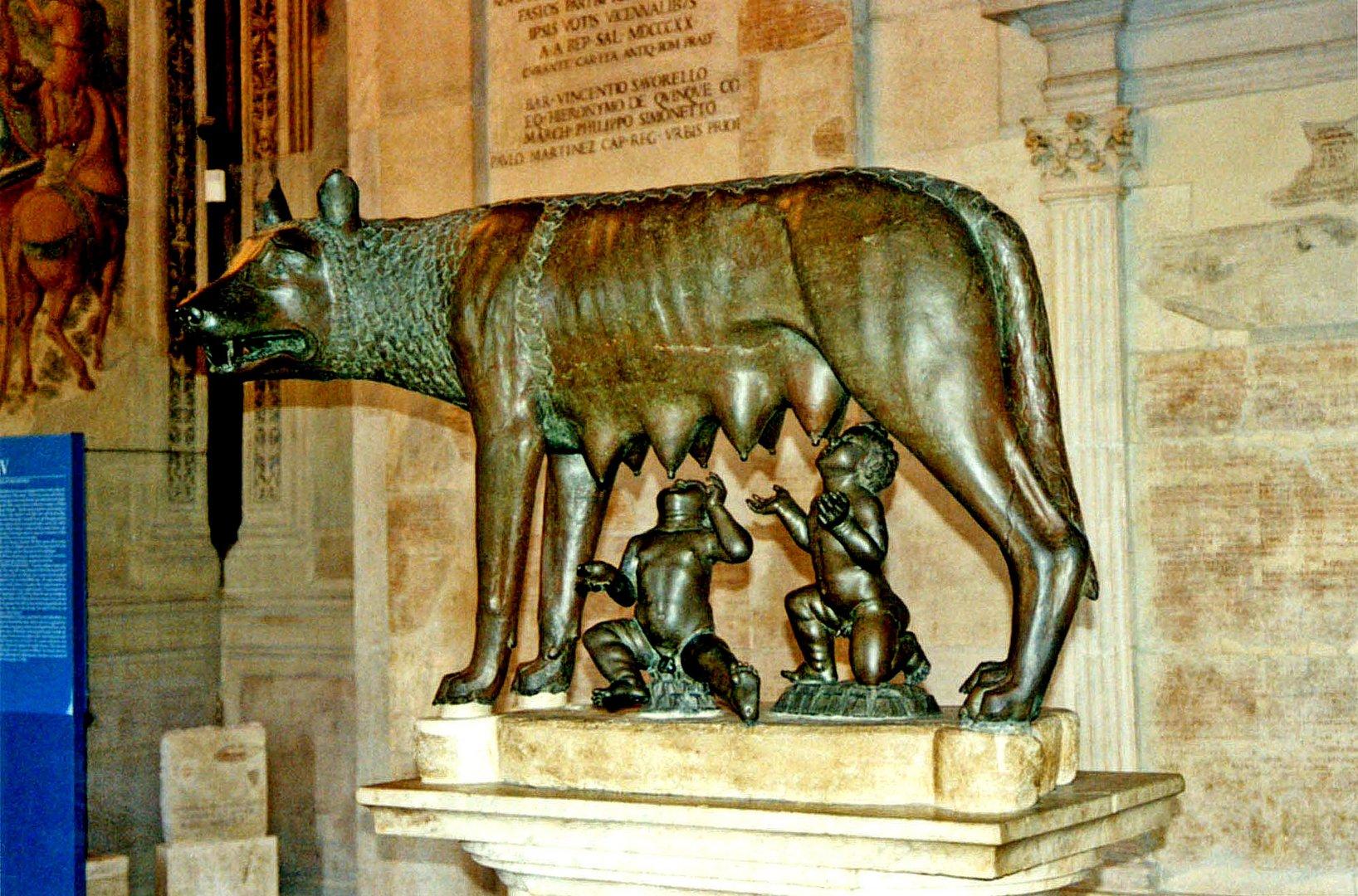 Lupa capilotina ['Mater Romanorum'] in Capitoline Museums, Rome