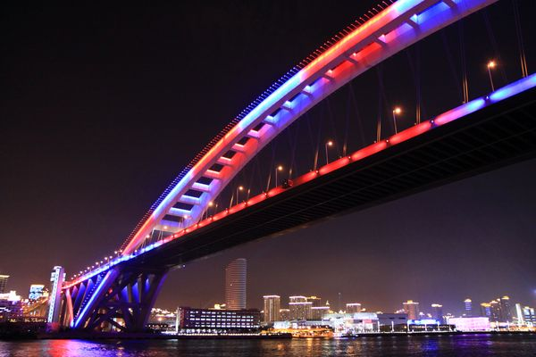 lupu bridge at night