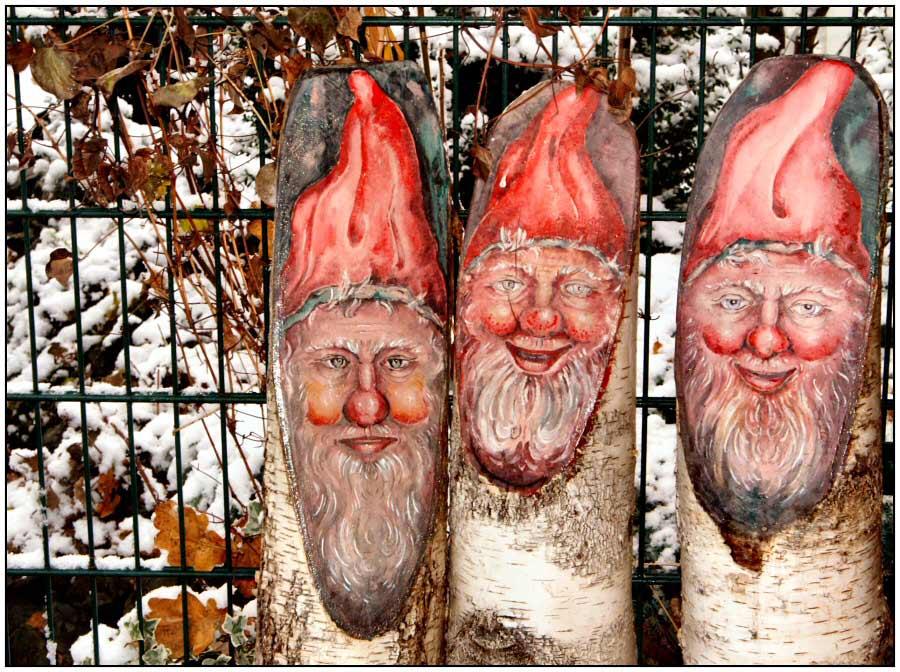 lustige Weihnachtsmänner