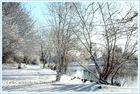 Luthe, Tongrube im Winter