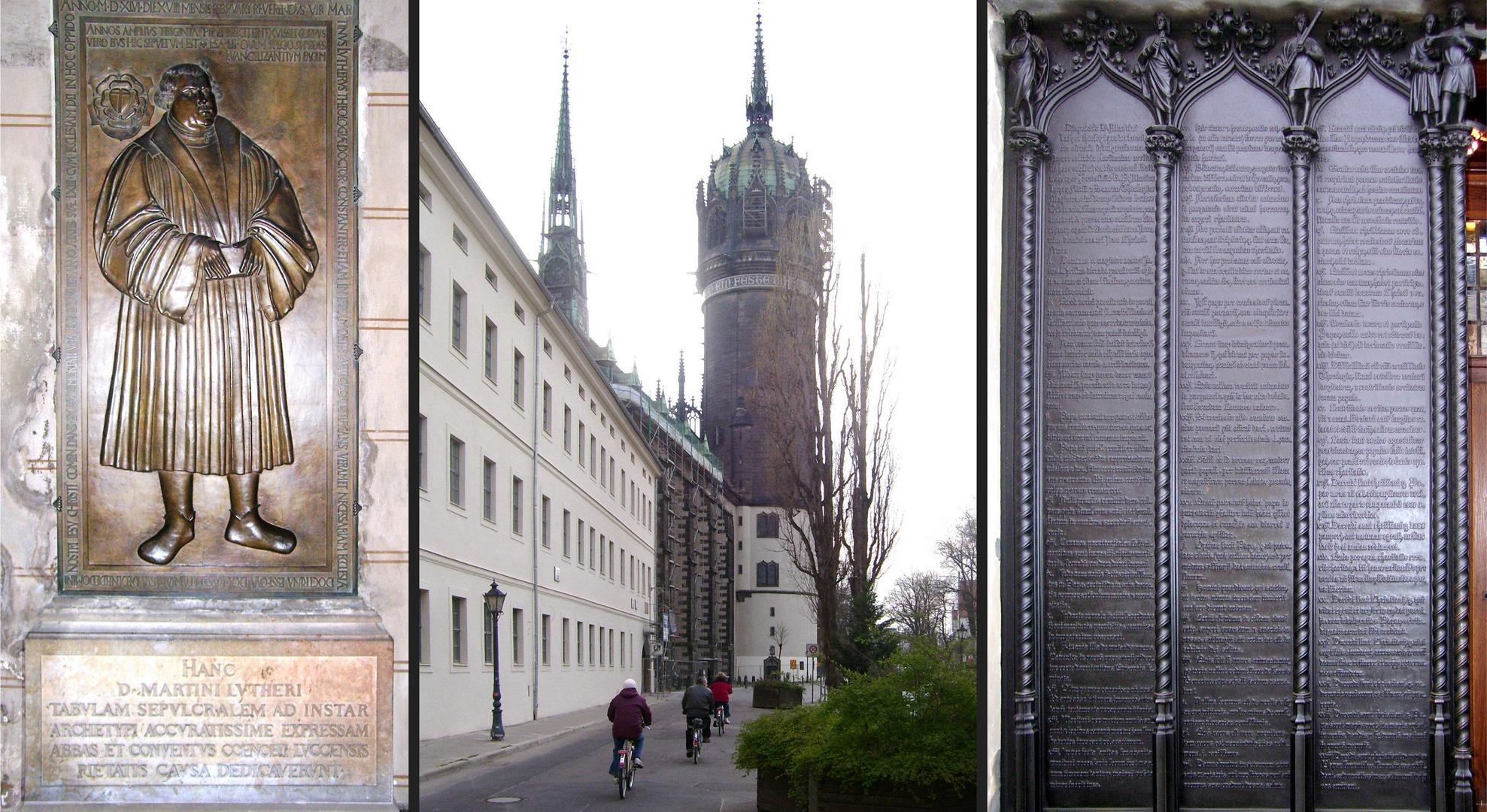 Luther und die Schlosskirche zu Wittenberg