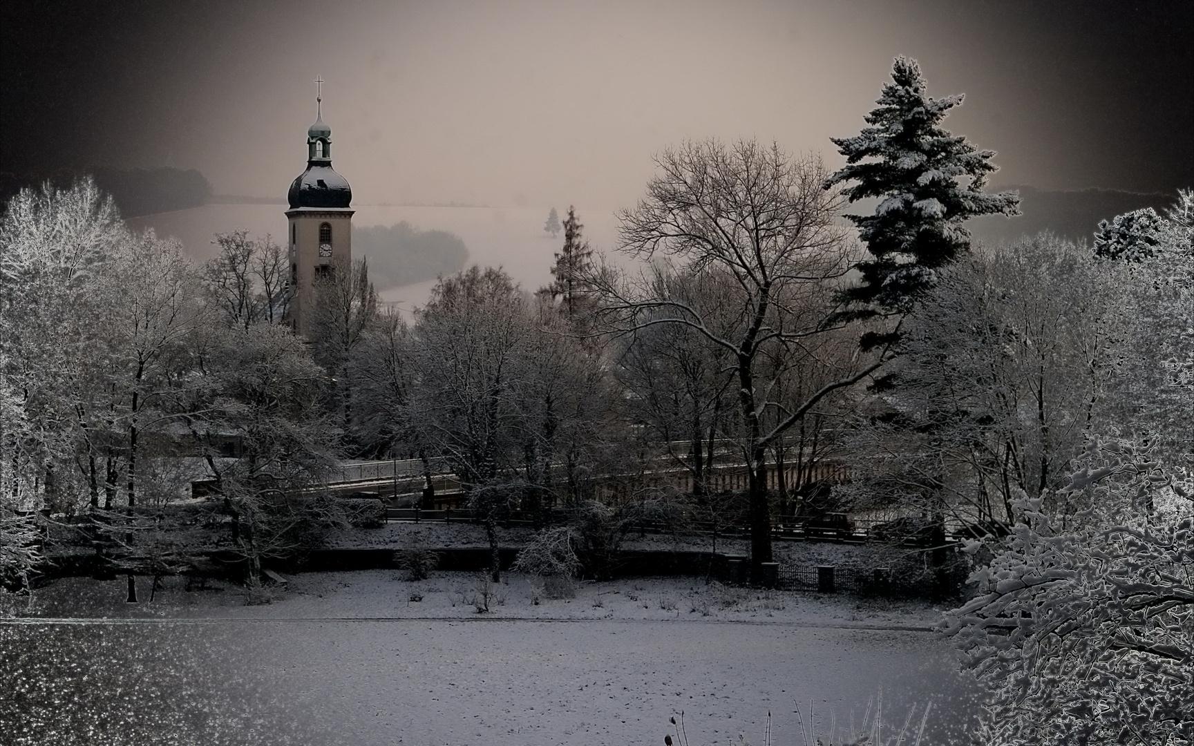 Lutherkirche in Waldenburg /Sa (bearbeitet)