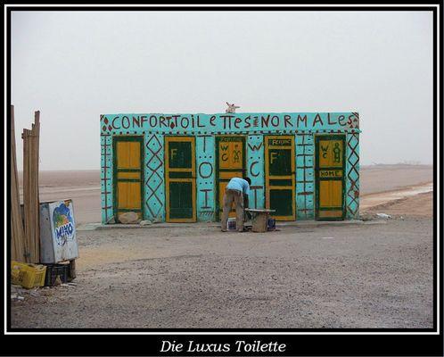 Luxus Toilette am Chott el Djerid