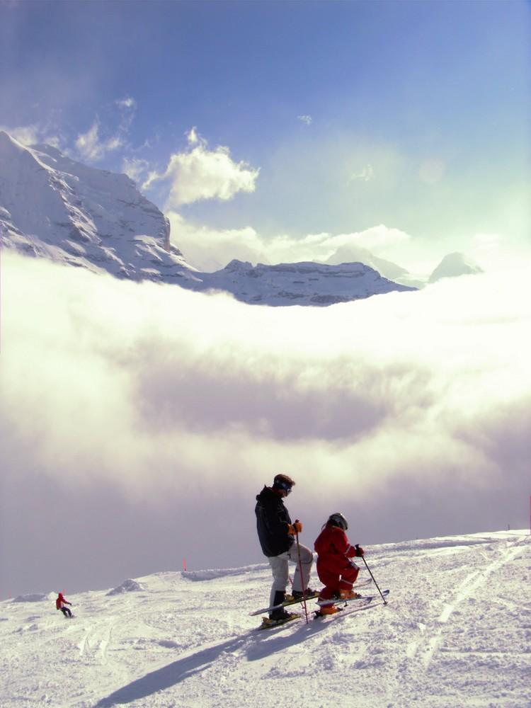 Luz und Tina über den Wolken