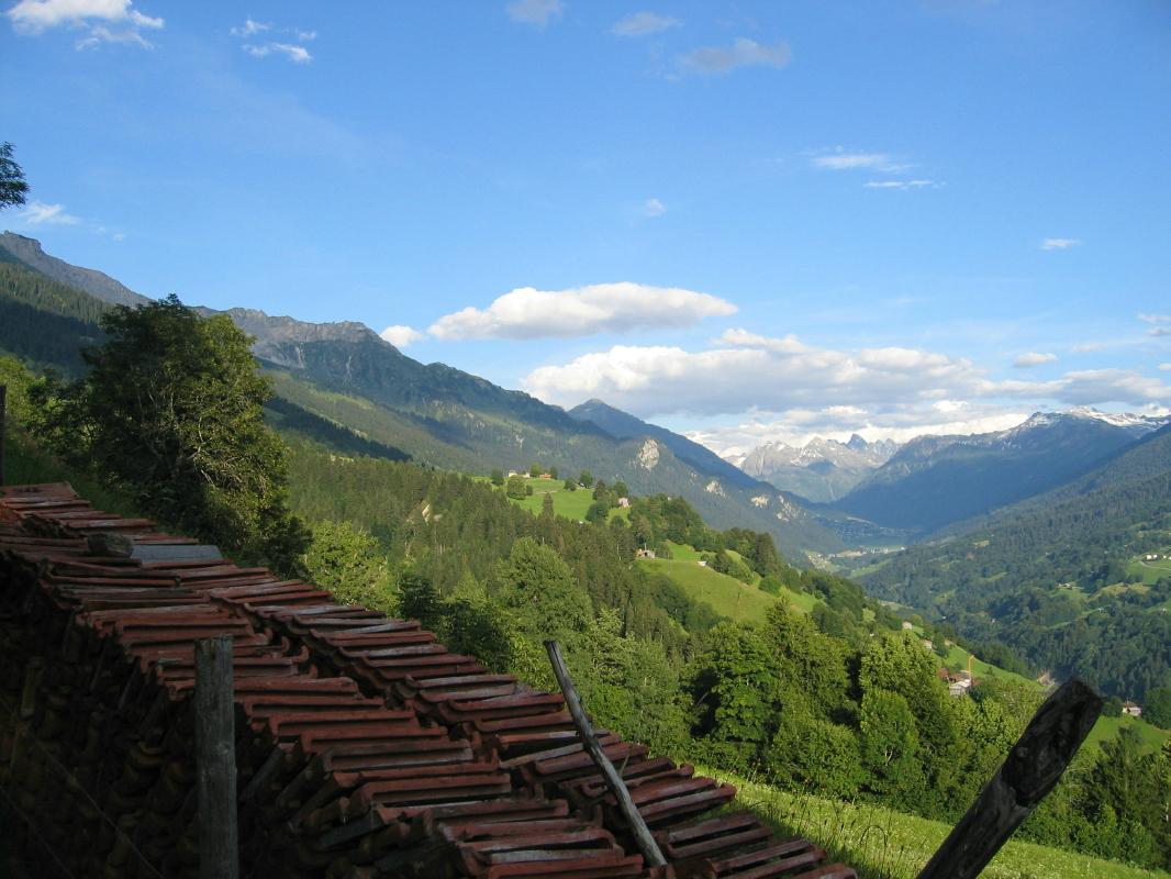 Luzein mit Blick nach Klosters