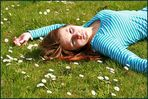 lying in the flower-bed...