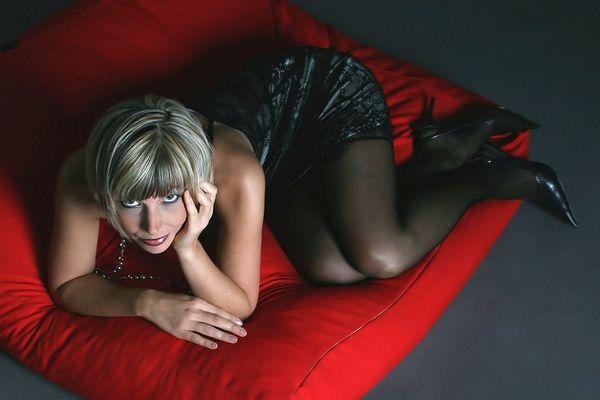 lying on a cushion