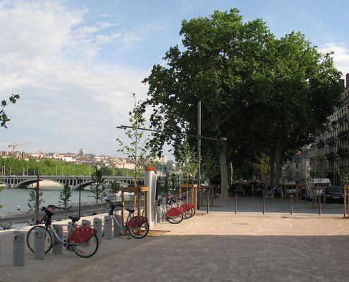 Lyon, die Stadt der Mieträder - das neue Rhôneufer 5