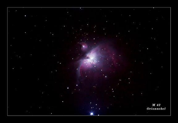 M 42 Orionnebel!