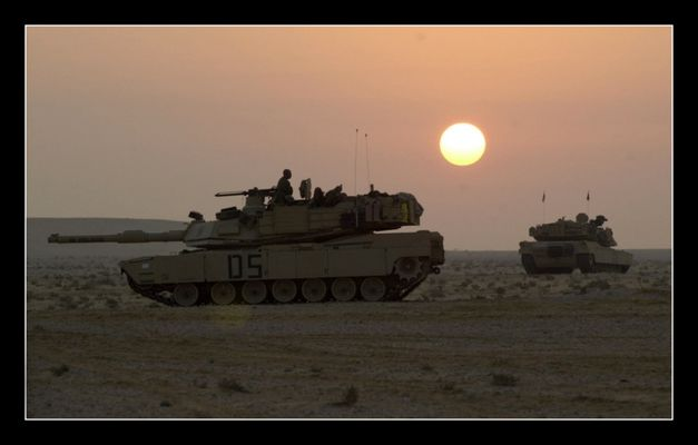 M1 Abrams on way home