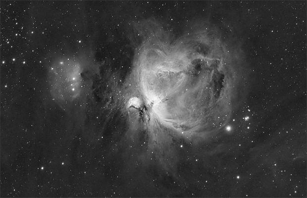 M42, der Orionnebel (als H-Alpha Version)