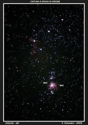 M42, la nebulosa di Orione.