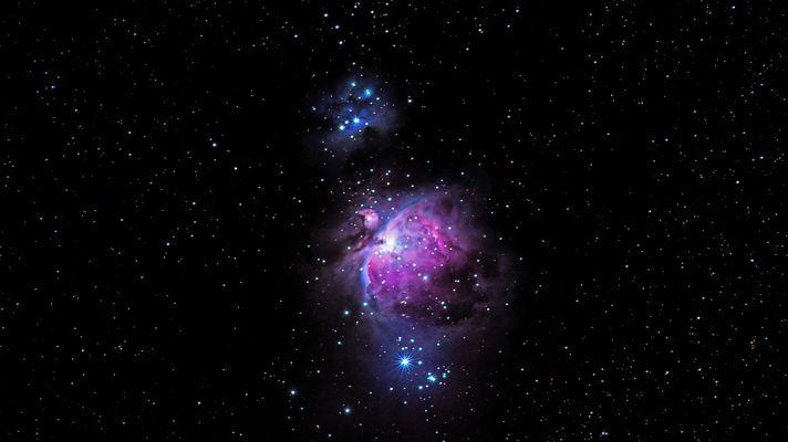 M42 Orionnebel + Running Man (Rotfilter)