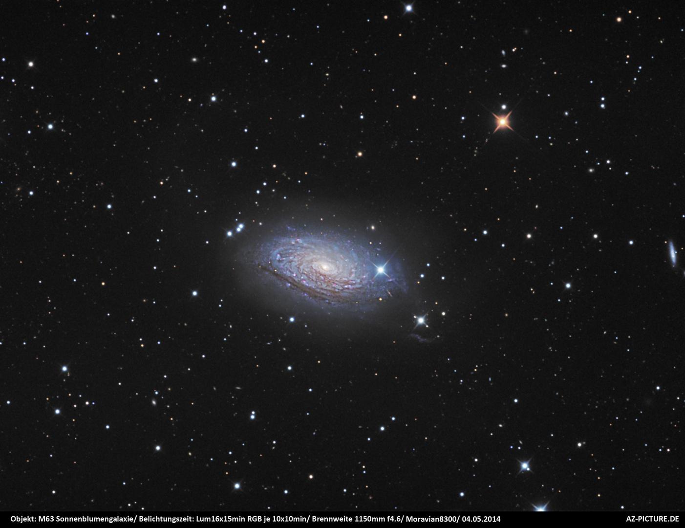 M63 Sonnenblumengalaxie