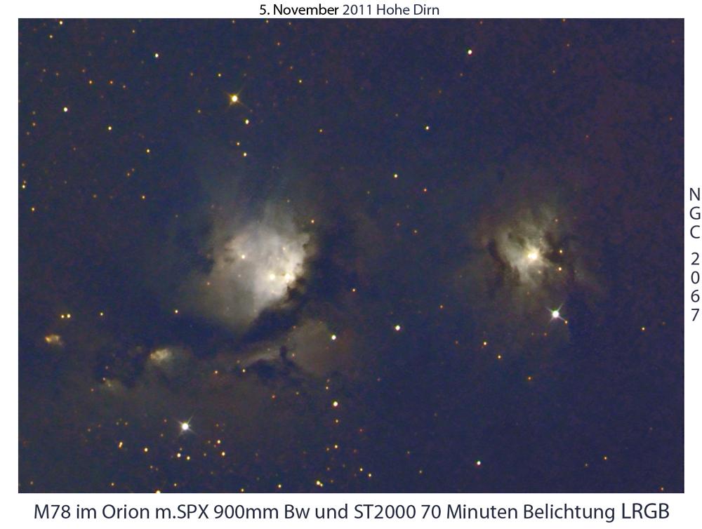 M78 u.NGC 2067