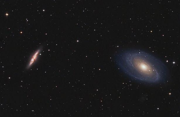 M81 und M82 Galaxien im Sternbild Großer Bär