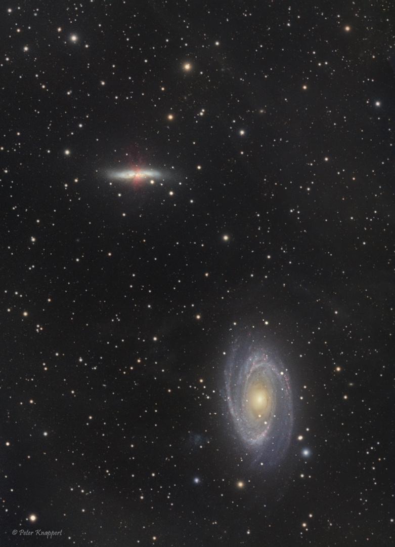 M81 und M82 im Sternbild Großer Bär