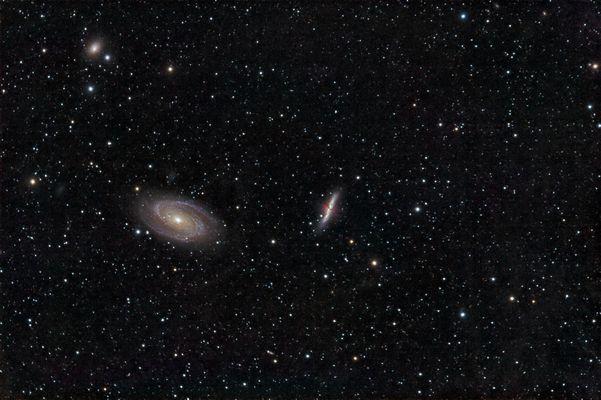 M81 und M82 mit galaktischem Zirrus