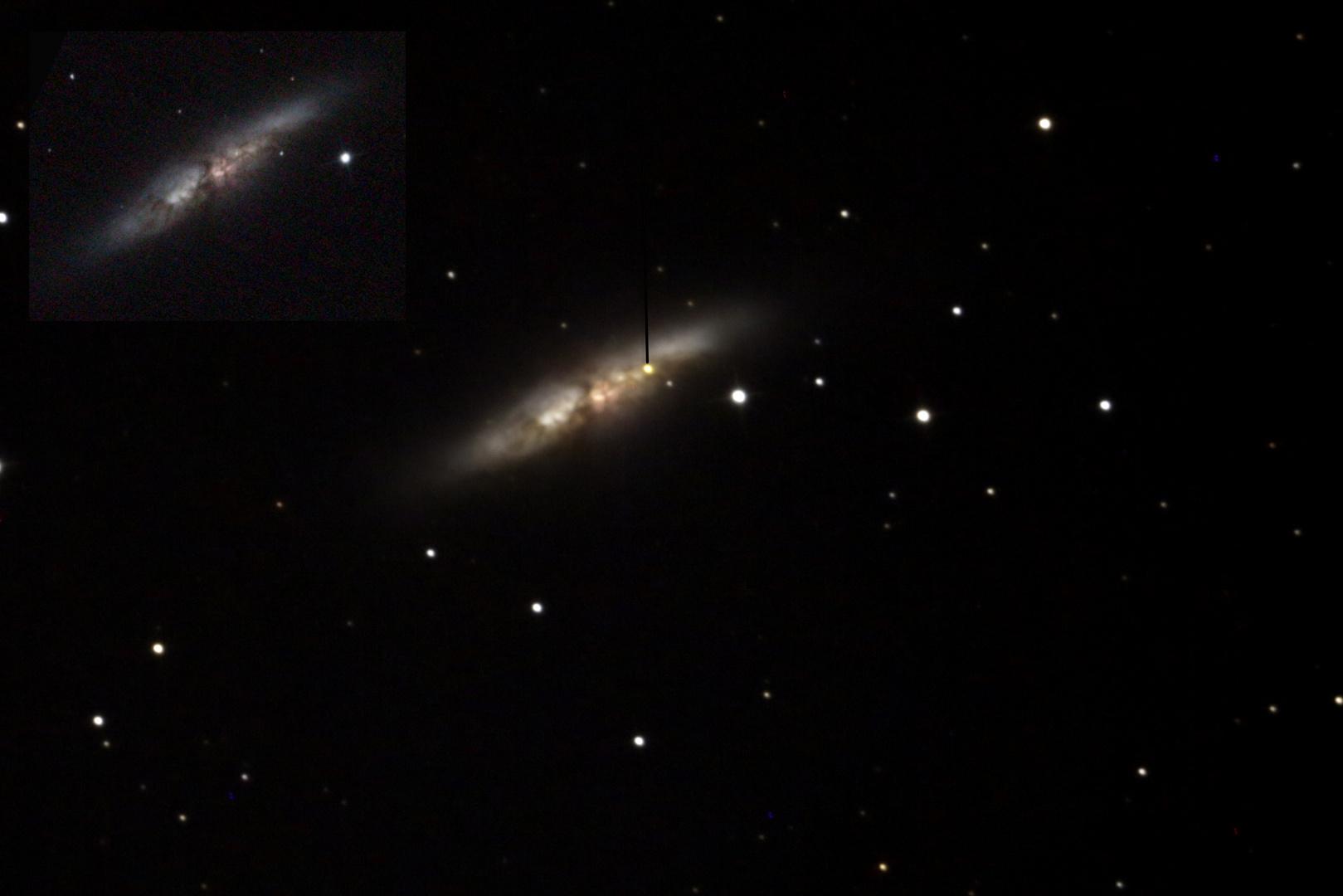 M82 mit und ohne Super Nova