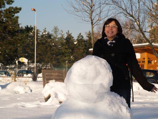 ma femme et le bonhommes de neige
