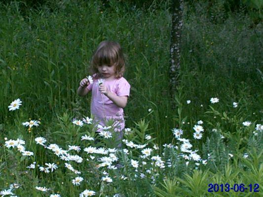 ma nièce dans mon jardin