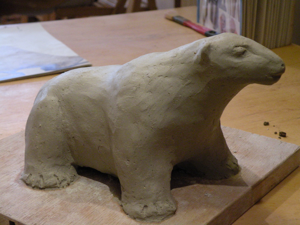 ma sculpture d'ours...