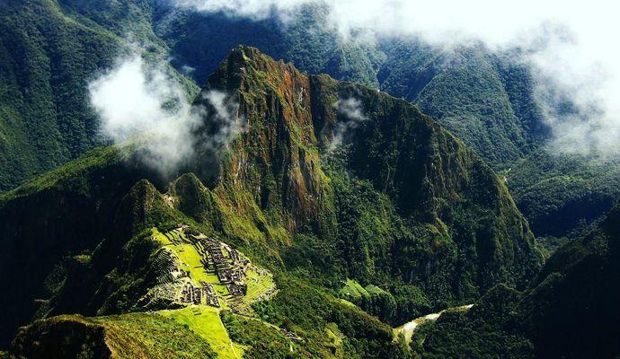 Machu Picchu - from high above