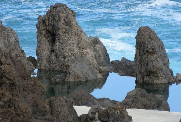 Madeira, Steine, Strand, Meer