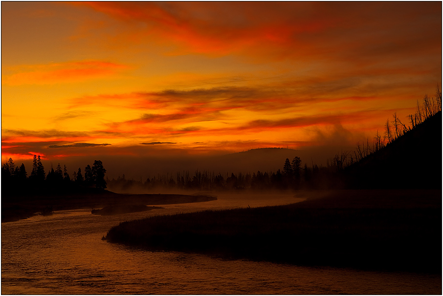 Madison River am frühen morgen