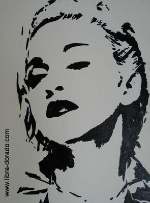 Madonna IV (Pop Art Gemälde - Handgemalt)