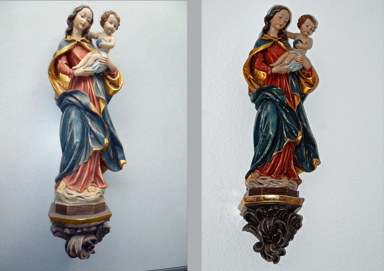 Madonna vor & nach Aufarbeitung