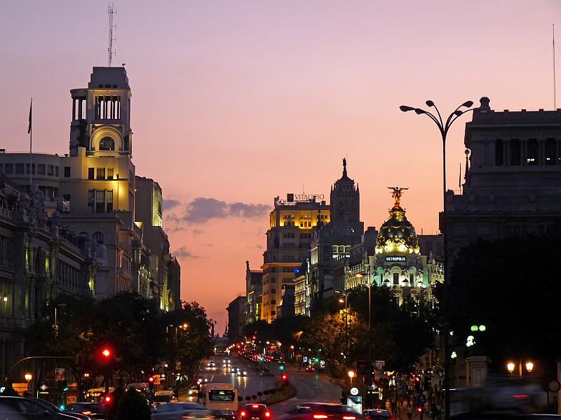 Madrid im Abendlicht