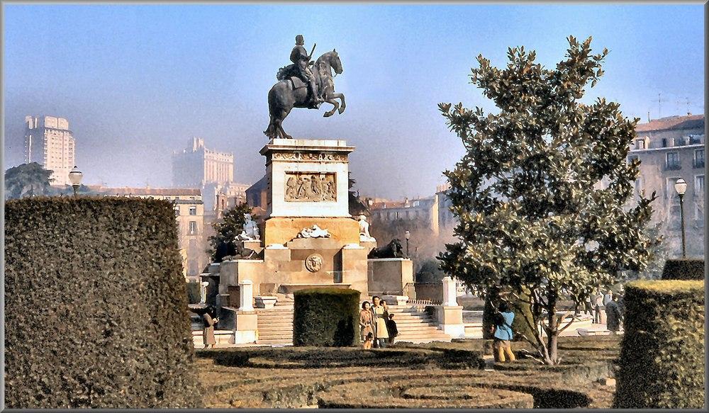 Madrid. Plaza del Oriente 1970.