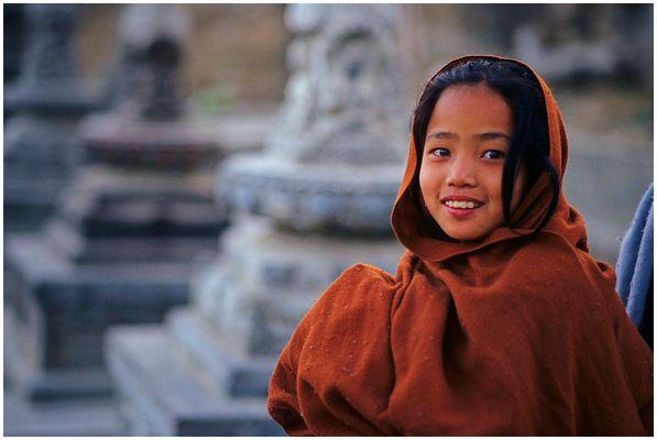 Mädchen am Hügel von Swayambhunath