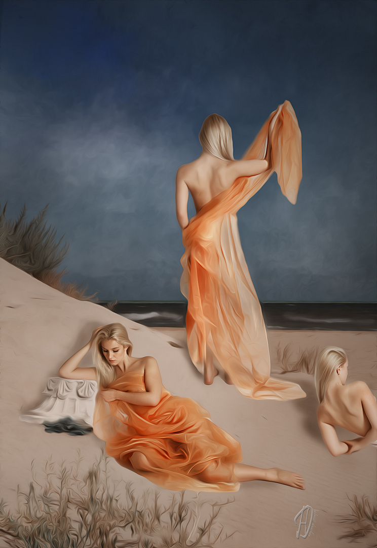 Mädchen am Strand