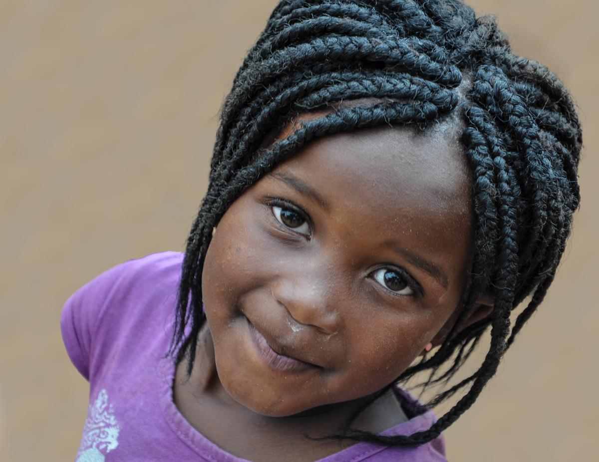 Mädchen aus den Drakensbergen/Südafrika