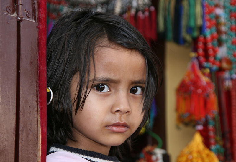 Mädchen aus Kathmandu (Bodnath).