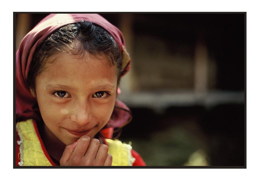 Mädchen aus Manali, Indien